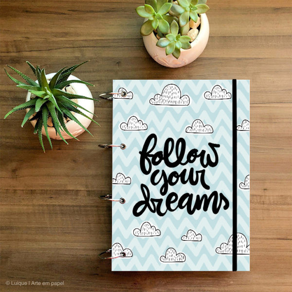 follow your dreams chevron 000000 a4